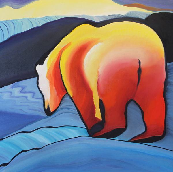 Searching For A Rainbow Mixed Media 36x36 Churchill Canada